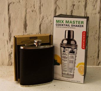Leather flask €19.95. Mix Master €19.95