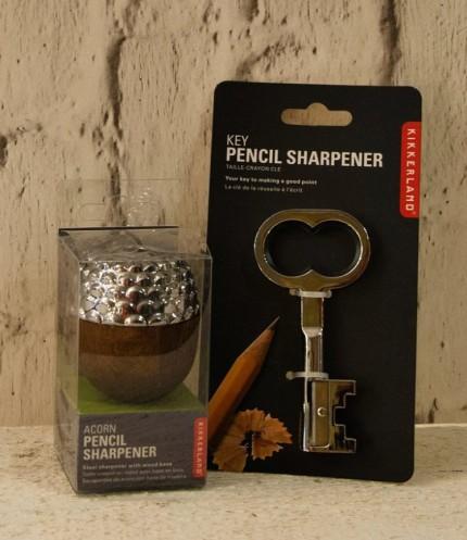 Acorn pencil sharpener €14.50, key pencil sharpener €5