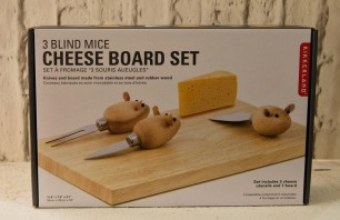 3 Blind Mice cheese board set €29.99