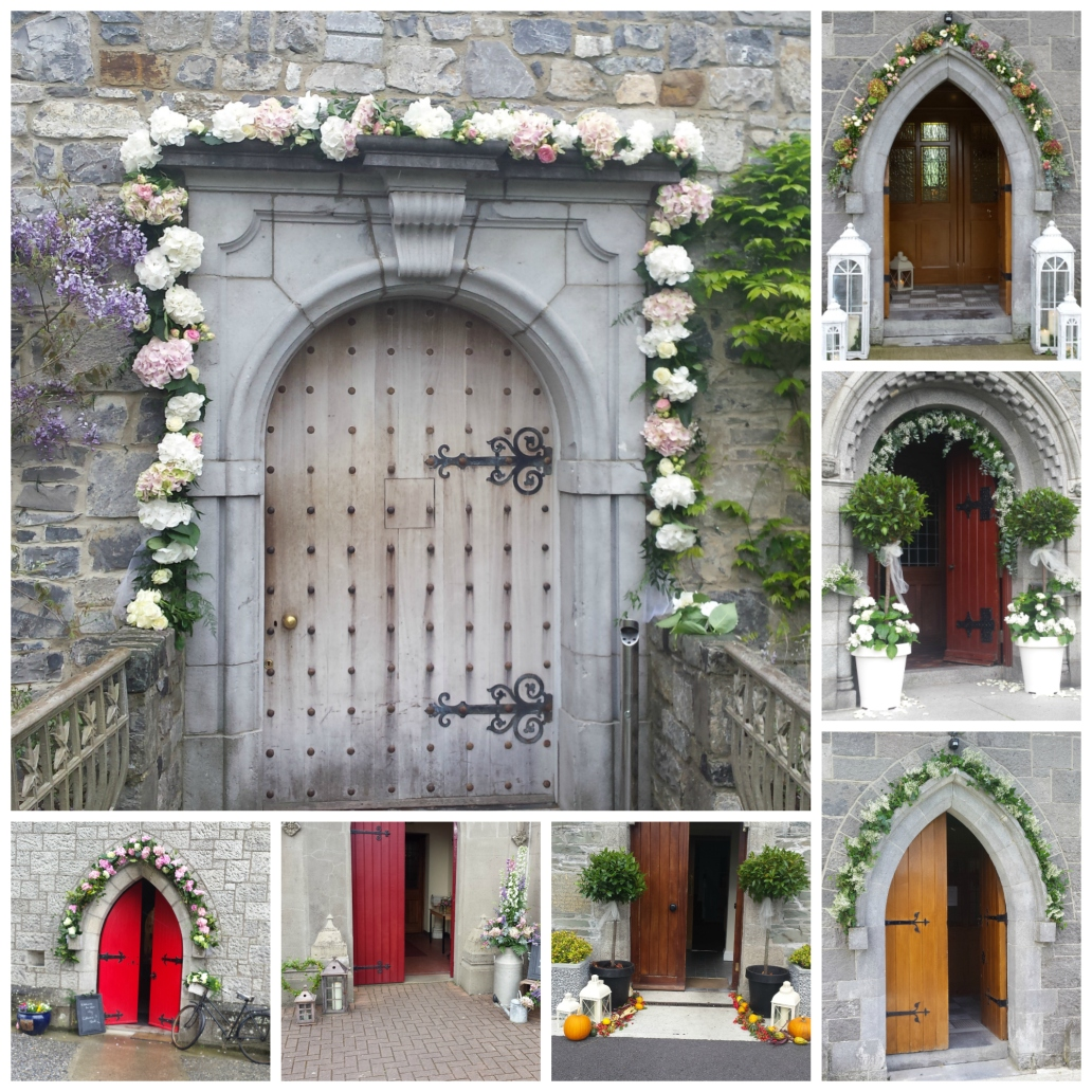 Floral arches collage