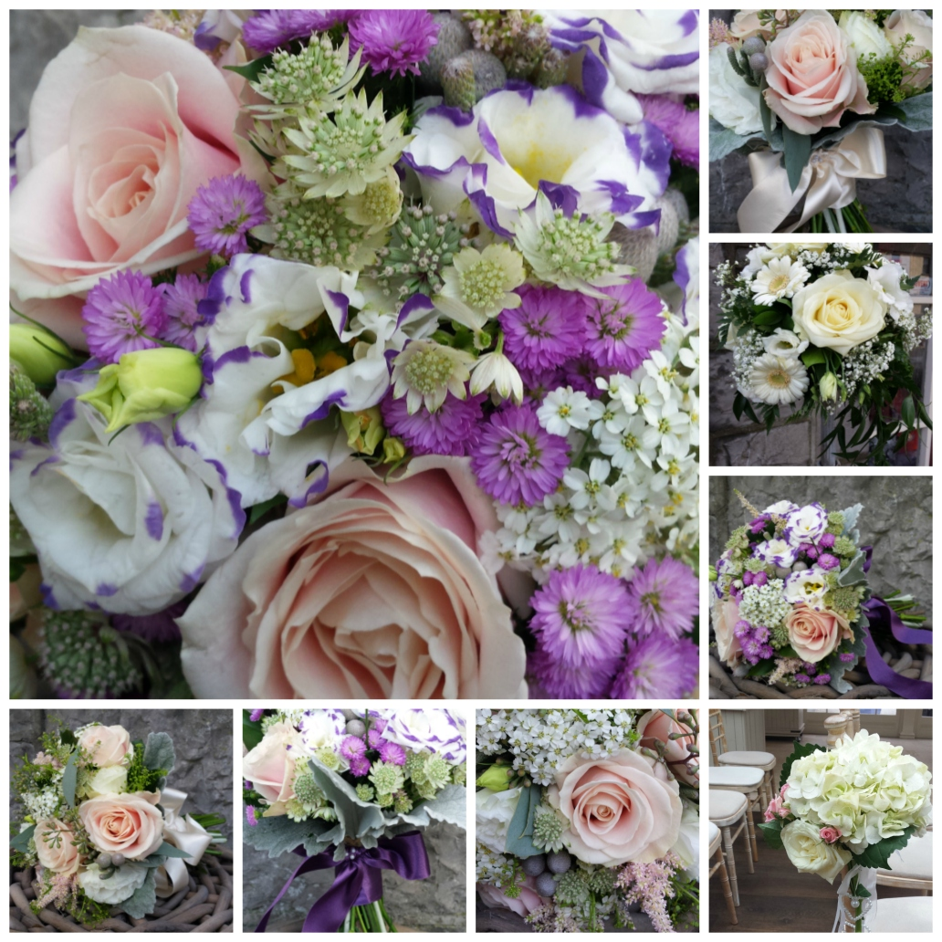 Summer bouquets collage